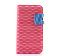 Pink Card Slot Diamond Leather Flip Stand Case Pouch Holster for Samsung Galaxy S3 i9300