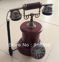 Antique Corded Telephone Wood