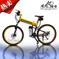 e-bike Double disc 26 folding electric bicycle transmission lithium battery e-bike battery