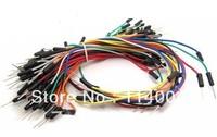 65pcs/LOT *10 =650pcs Lot New Solderless Flexible Breadboard Jumper Cables Free Shipping
