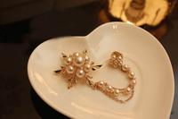 Free Shipping(MOQ 10$ Mix Order) Korea Pearl Brooch Vintage Flower Ball Choker Pendant Necklace Wholesale