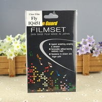 Free Shipping Screen Films for Fly iq451 Best  Gift Clear LCD Screen Protector/Guards Senior Film With Cleaning Cloth 10PCS/LOTS