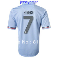 2013 -2014 Thailand Quality soccer jersey France #7 RIBERY blue jersey 13/14 Season National team football hot sell