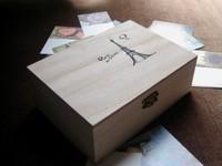New arrival zakka Paulownia wood small  wooden box tower storage box 17.5x12.5x6.5CM