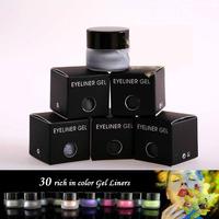 New Brand Waterproof Liquid Eye Liner Eyeshadow 3g Cosmetic Beauty 30 Color Optional Makeup Eyeliner Gel 3pcs/lot