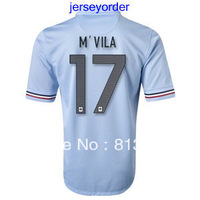 2013 -2014 Thailand Quality soccer jersey France #17 M`VILA blue jersey 13/14 Season National team football hot sell
