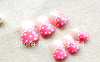 Free- shipping pretty girl false nails, short size nail tips   ,24 pcs per pack