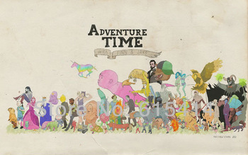 "R52 Adventure Time  With Finn & Jake American TV Series 22""x14"" inch wall Poster with Tracking Number"