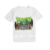 Plants vs . zoombies t-shirt plants vs zombies family fashion short-sleeve clothing