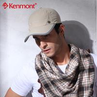 New arrival kenmont hats male summer baseball cap anti-uv sunbonnet km-0411