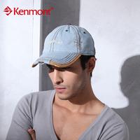 New arrival kenmont women's male fashion summer baseball cap stripe sunbonnet km-0422