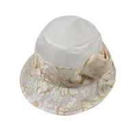 New arrival 2013 kenmont hats summer silk women's millinery sunbonnet big along the cap km-0549