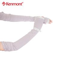 Sunscreen gloves long design kenmont women's lace summer sunscreen gloves km-2973-43