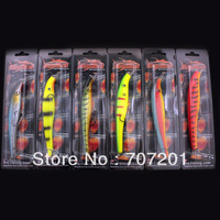 New Arrival & Free Shipping! 6Pcs/Lots Megabait Pike Fighter Fishing Lures Baits Bait 35g 160mm 6 colores