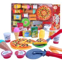 Child toy pizza set qieqie look child