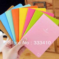 Korea Stationery Wholesale 8pcs/lot Cute Rilakkuma Notebook Candy Color A6 Mini Diary Notepad Free Shipping