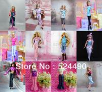 40 Items Handmade Doll Dresses Clothing Jacket + Pants Suit For Kurhn Barbie Doll Children Kids Gift
