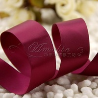Double faced ribbon diy handmade bow hair accessory 275 grape purple