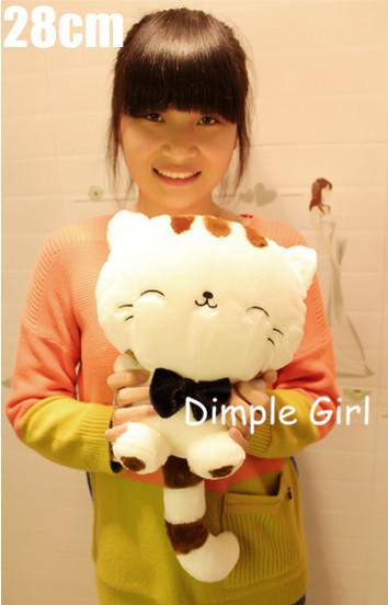 FREE SHIPPING kawaii cute stuffed animal cat plush toy for children girlfriend happy birthday gift idea creative novelty items(China (Mainland))