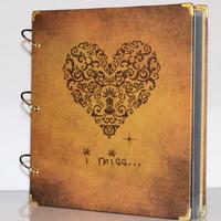 12-inch Vintage Gothic Style Diy Photo Album,diy baby lovers album(free gift),freeshipping