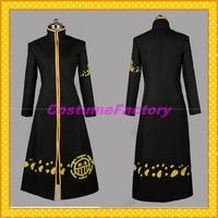 Free Shipping Custom Made One Piece Anime Cosplay Trafalgar Law Cloak Costume,1.5kg/pc