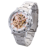 Special Hot Jewelry! Men And Luminous Hollow Automatic Mechanical Men's Brand Dive Skeleton Watch Waterproof And Durable