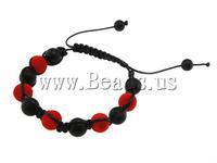 Free shipping!!!Glass Shamballa Bracelets,Men Fashion Jewelry, Acrylic, Cross, 10mm, Length:7.5 Inch, Sold Per 7.5 Inch