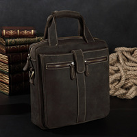 Man bag business casual shoulder bag messenger bag first layer of cowhide crazy horse leather genuine leather handbag