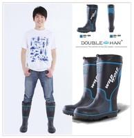 Super Men steel toe cap covering outdoor knee-high work shoes boots rainboots rain shoes