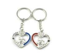 Free Shipping  Fashion Jewelry  Heart  middle man shake handshandle couple keychains creative gift keychain  men