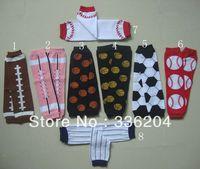 Free Shipping(MOQ 1 pair) Cotton Football Print Leg Warmers For Baby Kids