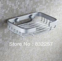 Free shipping Fashion water soap dish soap network basket bathroom soap box space aluminum bathroom hardware soap holder
