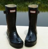 Black light knee-high slip-resistant Women fashion rain boots rainboots