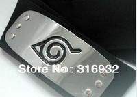 L4 Free Shipping Japanese anime Naruto Shippuden Leaf Village Metal Plate Headband , anime naruto cosplay, 5pcs/lot