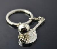 Free Shipping  Fashion Jewelry  Metal tennis racket key creative gifts key chain individuality hang key ring gift