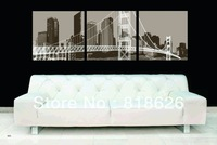 3 Panel Black Bridge Night Wall Hunging Picture Home Living Room Decoration Modern Printed Painting Canvas Art Pt385