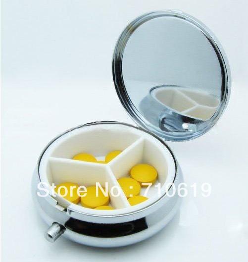 FEDEX FREE SHIPPING! 200PCS/LOT! Metal kit portable mini travel first aid pillaring medicine box(China (Mainland))