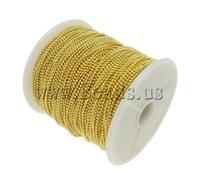 Free shipping!!!Brass Ball Chain,sexy,chinese jewelry, gold color plated, nickel, lead & cadmium free, 1.2mm