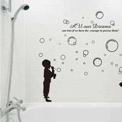 SIZE:1500 x 1300mm boys girls glass film wallpaper poster nursery bathroom decals sticker decorative vinyl stickers for children