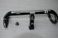 New 3T TORNOVA LTD carbon fibre bicycle red handlebar+3T Arx LTD stem+3T Top cap