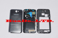 replace galaxy note 2 housing for samsung galaxy note 2 battery back housing + middle panel n7100 original GREY