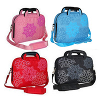Hot sale Fashion Casual  Girl Floral Petals laptop shoulder bag handbag messenger notebook bag women bags 10 12 14 inch