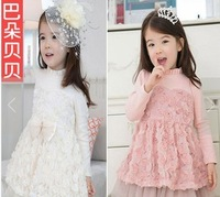 Children one-piece dress rose princess one-piece dress 2013 kid's autumn dresses