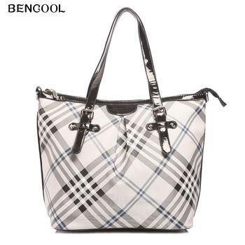2013 women's handbag fashion check bags messenger bag 0701