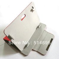 "Colorful Flip Leather Case Cover+Stylus For 7"" HKC P776A P774A Dual Core Tablet Free shipping"