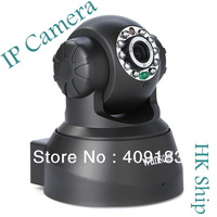 Wholesale Best Quality 1pcs/lot Wireless WIFI  IP Camera Webcam Night Vision nightvision10 LED IR Dual Audio  Free HongKong   I9