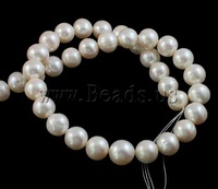 Free shipping!!!Potato Cultured Freshwater Pearl Beads,Lovely Jewelry, Round, natural, white, 12-15mm, Hole:Approx 0.8mm