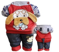 Free Shipping 2013 New Fall And Winter Clothes Children Suit Children Clothing Cotton Puppy Paragraph
