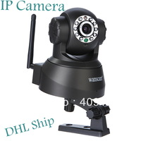 Wholesale Best Quality 5pcs/lot Wireless WIFI  IP Camera Webcam Night Vision nightvision10 LED IR Dual Audio  Free DHL   I9