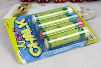 Free shipping Jumbo chalk leviathans dustless chalk blue and white 4 packaging